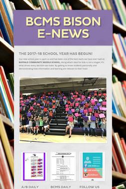 BCMS Bison E-News