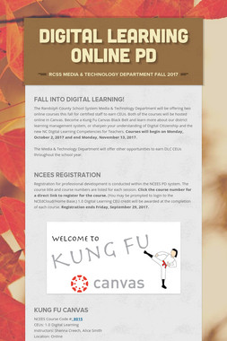 Digital Learning Online PD