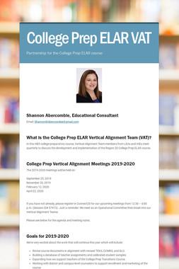 College Prep ELAR VAT