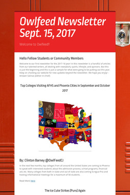 Owlfeed Newsletter Sept. 15, 2017