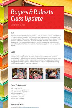 Rogers & Roberts Class Update