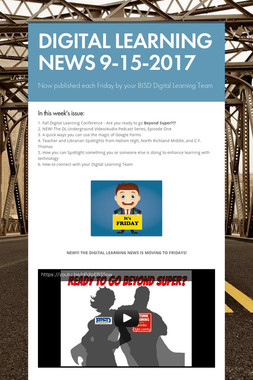 DIGITAL LEARNING NEWS 9-15-2017