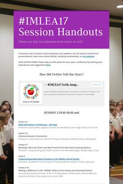 #IMLEA17 Session Handouts
