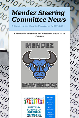 Mendez Steering Committee News