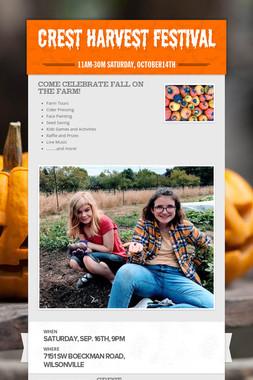 CREST Harvest Festival