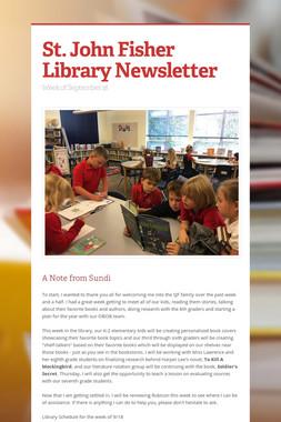 St. John Fisher Library Newsletter