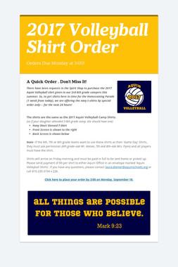 2017 Volleyball Shirt Order