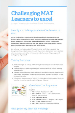 Challenging MAT Learners to excel