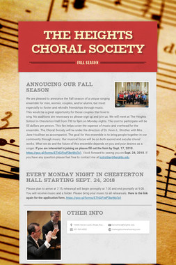 The Heights Choral Society