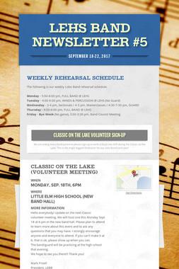LEHS Band Newsletter #5