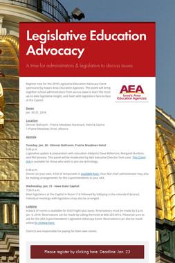 Legislative Education Advocacy