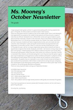 Ms. Mooney's October Newsletter
