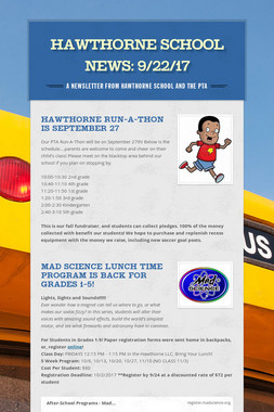 Hawthorne School News: 9/22/17