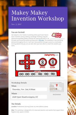 Makey Makey Invention Workshop