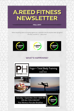 A.REED Fitness Newsletter