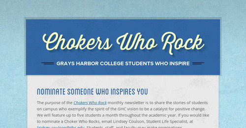 Chokers Who Rock | Smore Newsletters for Education