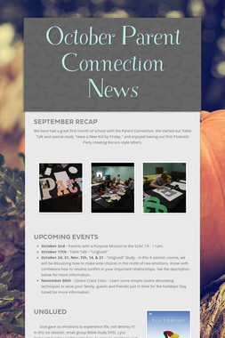 October Parent Connection News