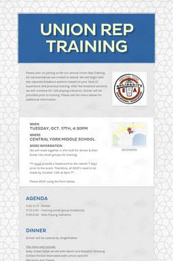 Union Rep Training