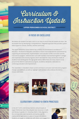 Curriculum & Instruction Update