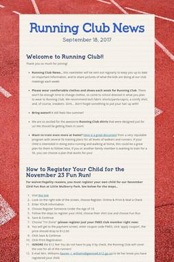 Running Club News
