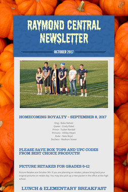 Raymond Central Newsletter