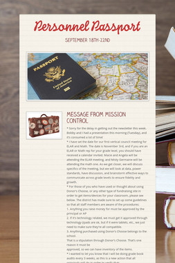 Personnel Passport