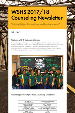 WSHS 2017/18 Counseling Newsletter