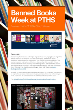 Banned Books Week at PTHS