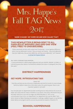 Mrs. Happe's Fall TAG News 2017
