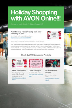 Holiday Shopping with AVON Onine!!!
