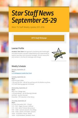 Star Staff News   September 25-29