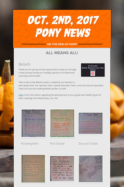 OCT. 2nd, 2017 Pony News