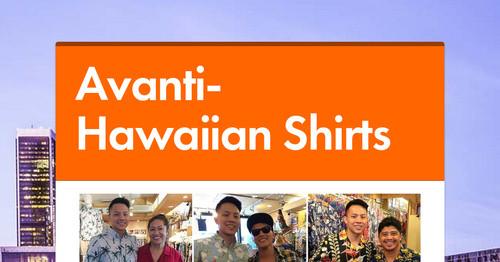 Avanti- Hawaiian Shirts