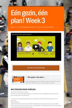 Eén gezin, één plan! Week 3