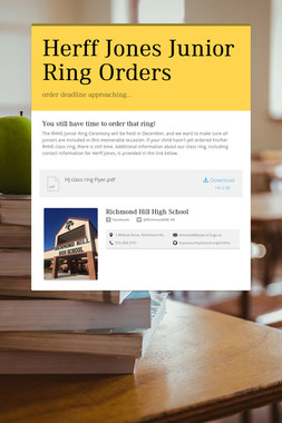 Herff Jones Junior Ring Orders