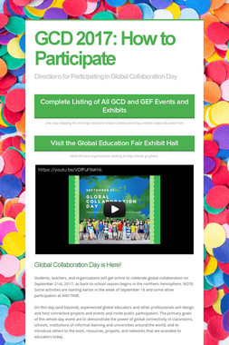 GCD 2017: How to Participate