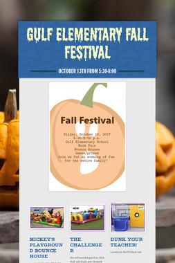 Gulf Elementary Fall Festival