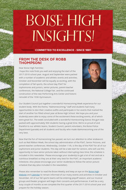 BOISE HIGH INSIGHTS!