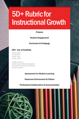 5D+ Rubric for Instructional Growth