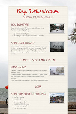 Top 5 Hurricanes