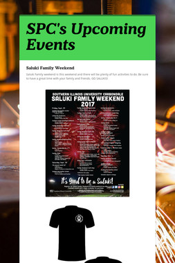 SPC's Upcoming Events
