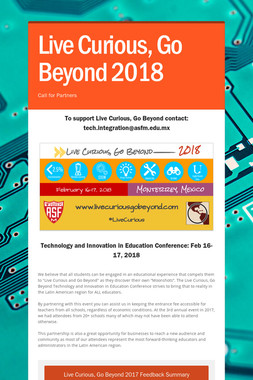 Live Curious, Go Beyond 2018