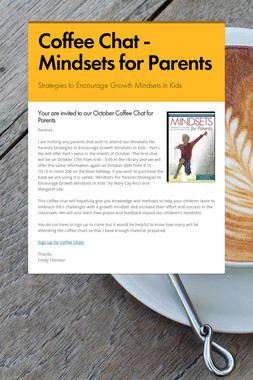 Coffee Chat - Mindsets for Parents