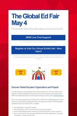 The Global Ed Fair May 4