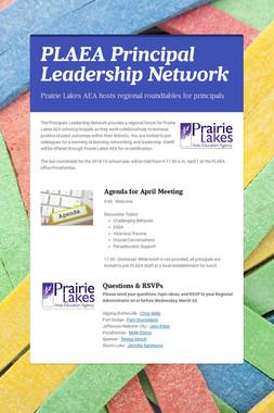 PLAEA Principal Leadership Network