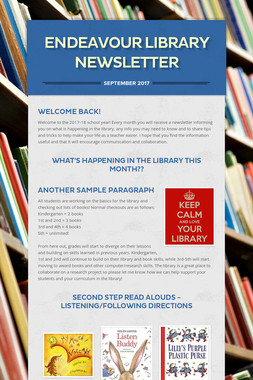 Endeavour Library Newsletter