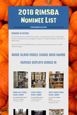 2018 RIMSBA Nominee List