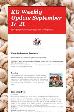 KG Weekly Update September 17-21