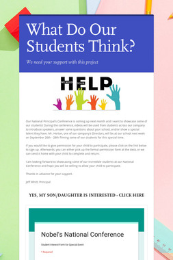 What Do Our Students Think?