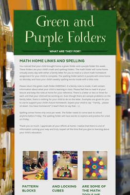 Green and Purple Folders